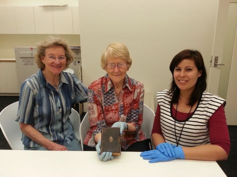 Helena Stretton, Helen Woolcock and Assistant Curator, Carmen Burton on the day of the visit, August 2013