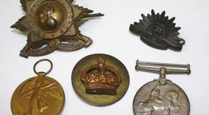 World War 1 objects added to Collection