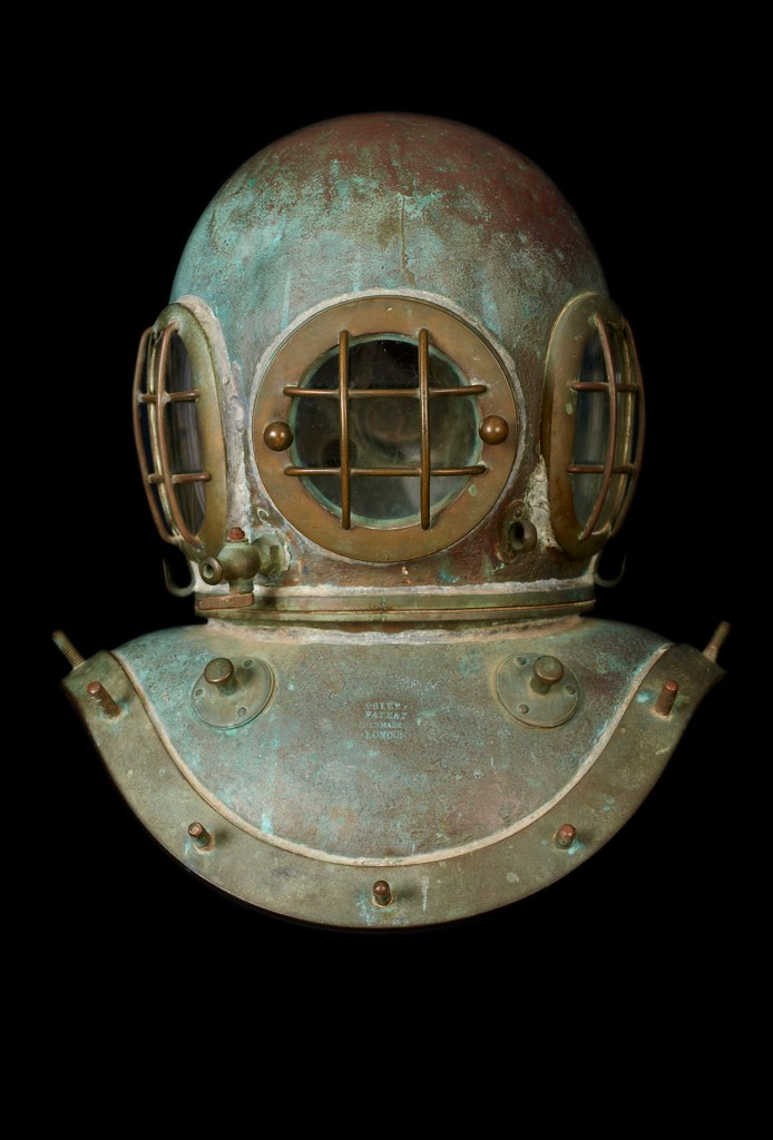 One of the diving helmets from the Langley Collection