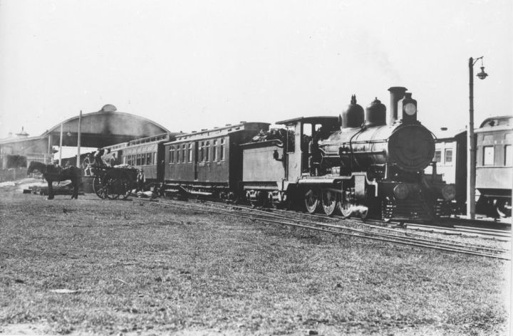Mail train at Charters Towers, circa 1920s