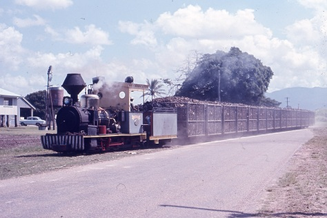 Homebush takes a load of sugar cane from Gairloch into the CSR Ltd, Victoria Mill – August 1968 Image:David Mewes
