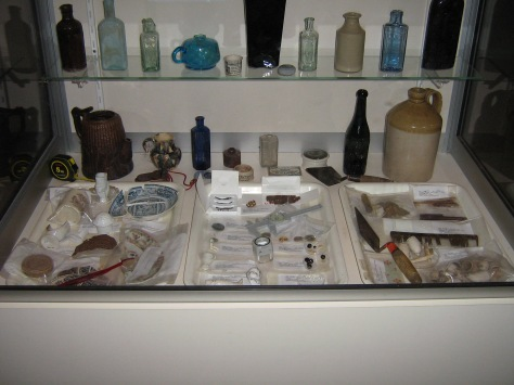 A small display of commonly found historical archaeology artefacts, on show in NAW 2007.