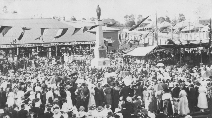 Unveiling Ceremony of the Memorial at the Ipswich Railway Workshops, September 1919.
