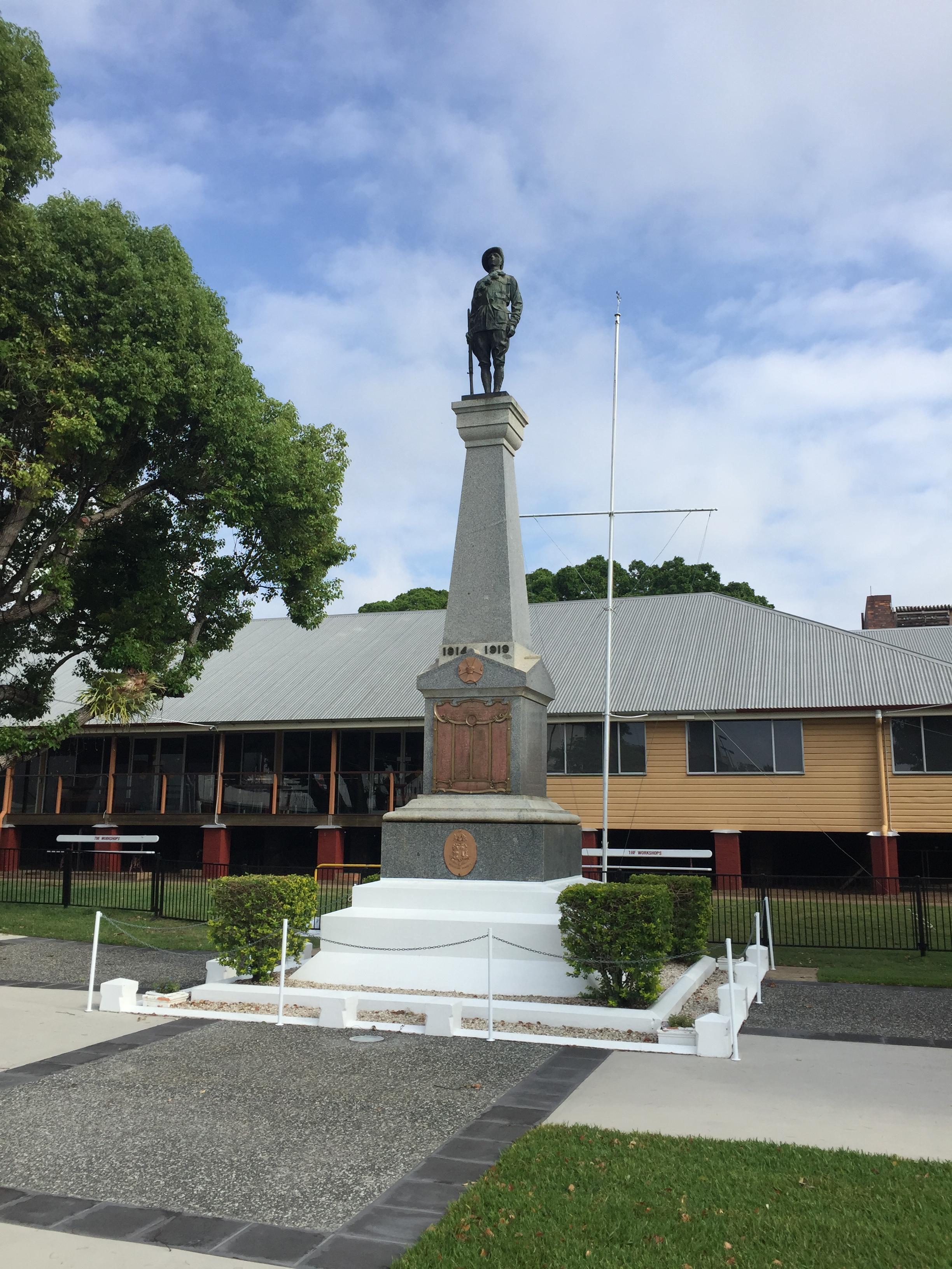 Memorial at The Workshops Rail Museum.