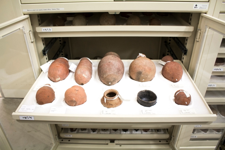 Pottery vessels from the ancient Egyptian village of Esna, excavated by John Garstang