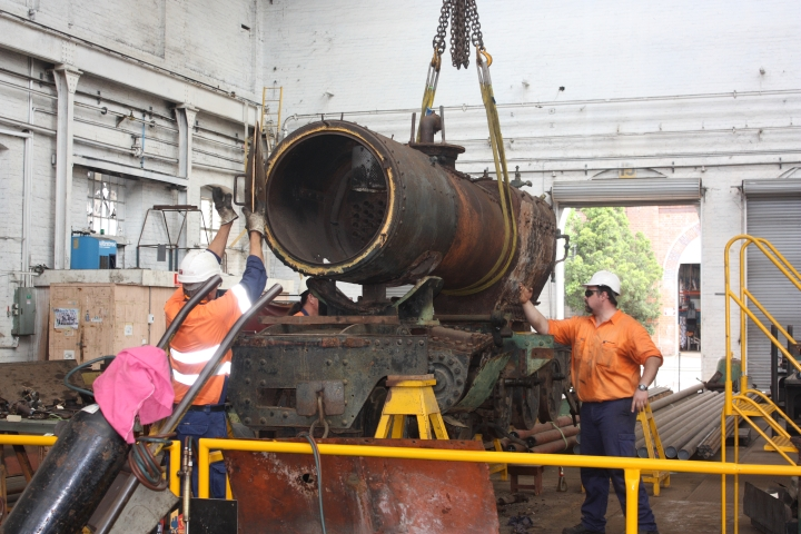 Removing the boiler