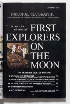 National Geographic magazine featuring Apollo 11, Dec 1969.