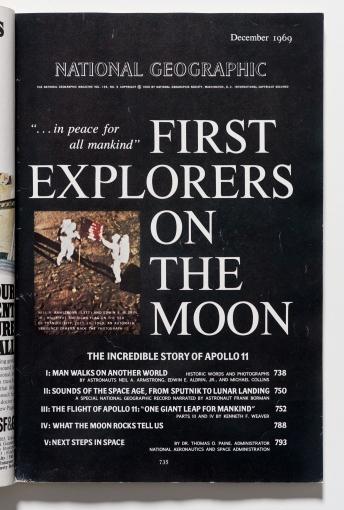 National Geographic magazine featuring Apollo 11, Dec 1969.