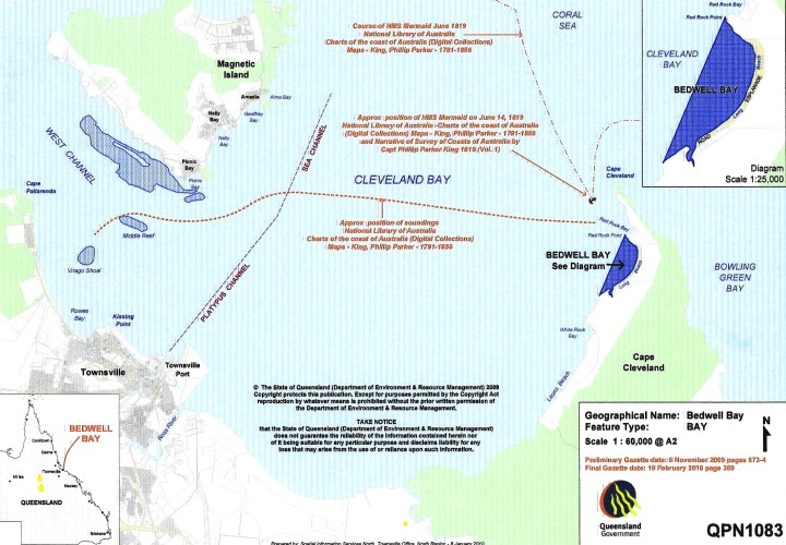 Map of Newly Named Bedwell Bay 2010