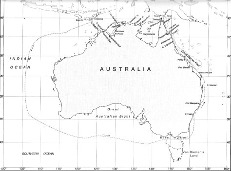 Map of the Mermaid's Third Voyage
