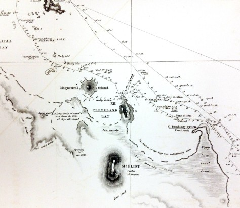 Mermaid Chart Cleveland Bay from King's Narrative 1825