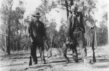 Dingo hunters near Perthton