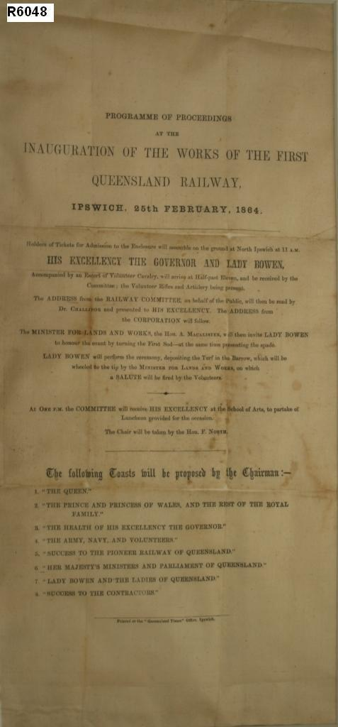 Queensland Day - Silk Address - 1860