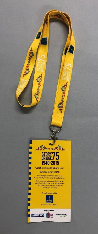 Lanyard from the 75th Anniversary of the opening of the bridge.